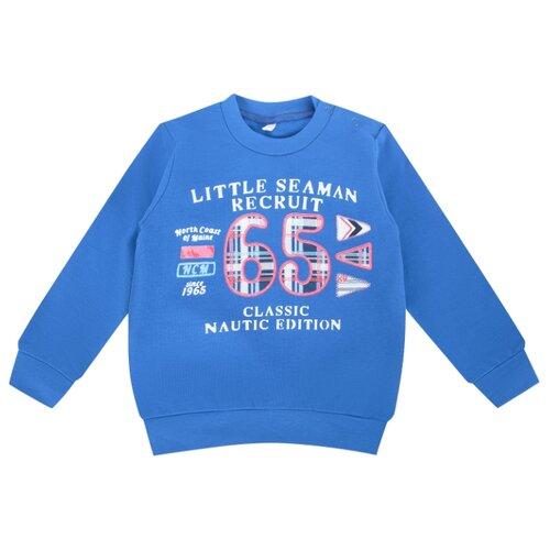 Свитшот Leader Kids размер 86, синий легинсы leader kids морячка размер 86 синий белый