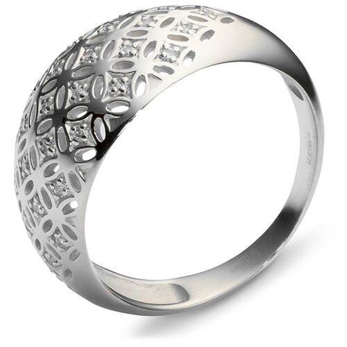 Эстет Кольцо с 29 фианитами из серебра 01К155435, размер 17.5 ЭСТЕТ