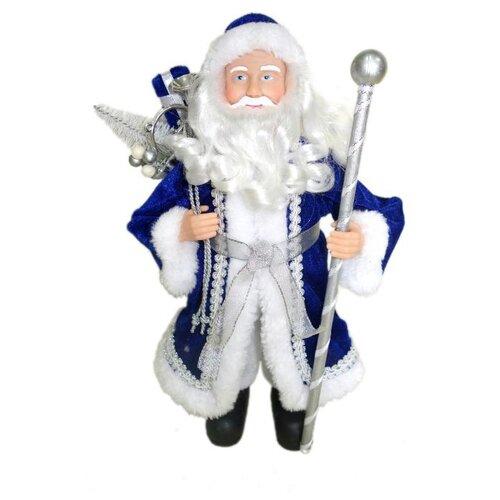 цена на Фигурка Феникс Present Дед мороз с елочкой 30 см синий