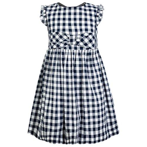 Купить Платье Mayoral размер 116, синий/белый/клетка, Платья и сарафаны