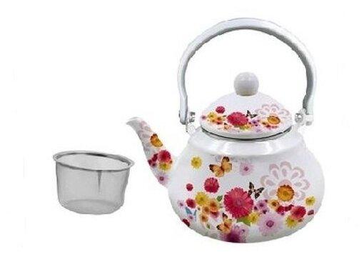 Купить Чайник Appetite Симфония FT11-SM 1.5л эмалированный по низкой цене с доставкой из Яндекс.Маркета (бывший Беру)