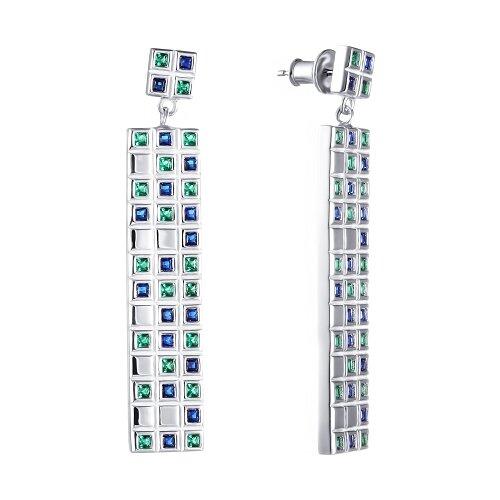JV Серьги с фианитами из серебра SY-356142-E-SR-003-WG