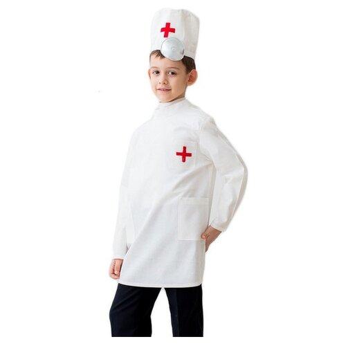 Костюм Бока Доктор, белый, размер 122-134, Карнавальные костюмы  - купить со скидкой