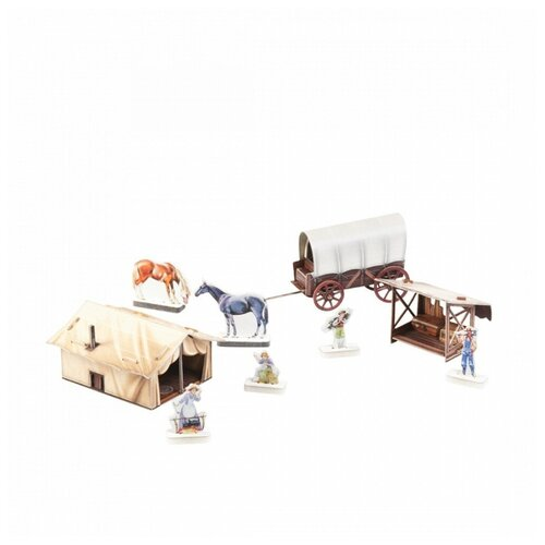 Купить 3D пазл Умная бумага - серия Дикий Запад - Лагерь поселенцев УМБУМ 472, Умная Бумага, Пазлы
