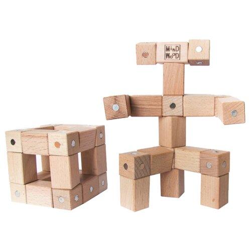 Купить Магнитный конструктор MindWood Кубик-робот miw-1004 Базовый, Конструкторы