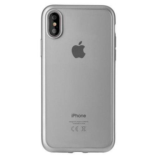 цена Чехол uBear Frame Tone Case для Apple iPhone X/Xs silver онлайн в 2017 году