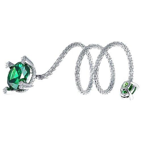 JV Кольцо с стеклом и фианитами из серебра SRT00030-KO-US-001-WG, размер 18 jv кольцо с стеклом и фианитами из серебра se2617 r ko us 001 blk размер 18