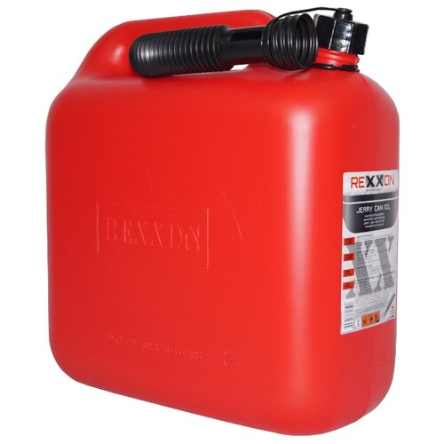Канистра Rexxon 1-01-2-1-0, 10 л, красный канистра rexxon для топлива пластиковая с гибким шлангом 5 л