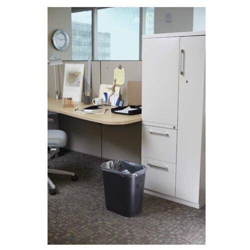 Корзина для мусора прямоугольная офисная Soft Wastebaskets 26,6 л., Черный, Rubbermaid