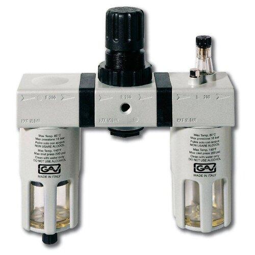 Фильтр/редуктор/лубрикатор GAV G-FRL-200 (13029) 14 атм , 3/8F , 3/8F сопло gav 1000 r 0 7