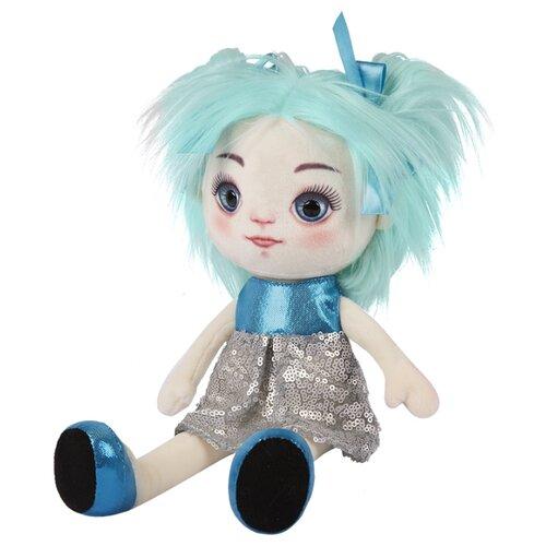 кукла наша игрушка карина в свадебном платье Мягкая игрушка Maxitoys Кукла Карина в сине-серебряном платье 35 см