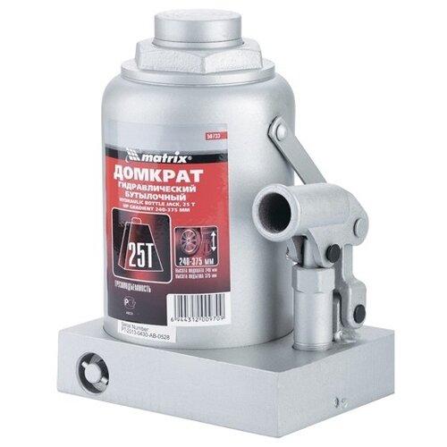 Домкрат бутылочный гидравлический matrix 50733 (25 т) стальной