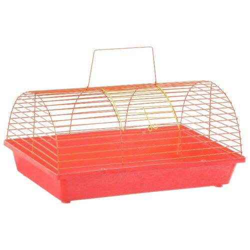 Клетка для грызунов Зоо Марк 110Ж 36х23х17.5 см красный/оранжевый