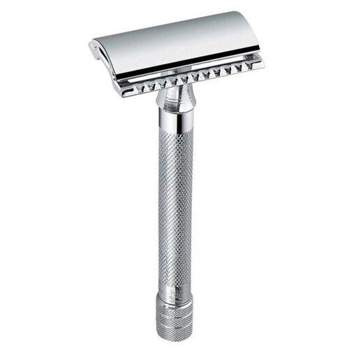 Станок Т-образный Dovo Merkur (безопасная бритва с закрытым гребнем и удлиненной ручкой + лезвие)