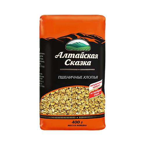алтайская сказка смесь круп гречка рис в пакетах для варки 400 г 5х80 г Алтайская сказка Хлопья пшеничные, 400 г