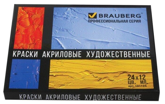 BRAUBERG Краски акриловые Профессиональная серия 24 цвета х 12 мл (191124) — купить по выгодной цене на Яндекс.Маркете