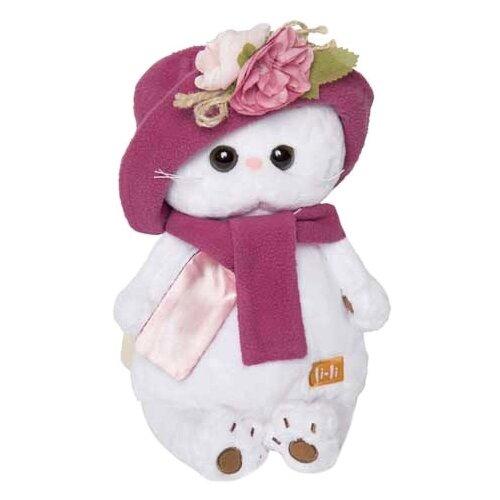 Мягкая игрушка Basik&Co Кошка Ли-Ли в панаме и шарфе 24 см
