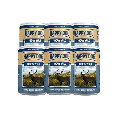 Влажный корм для собак Happy Dog 100% Мясо Фермерский продукт, дичь 6 шт. х 400 г