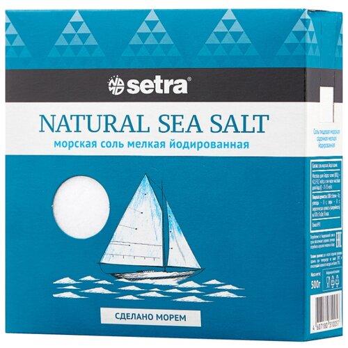 Setra Соль морская йодированная мелкая, 500 г