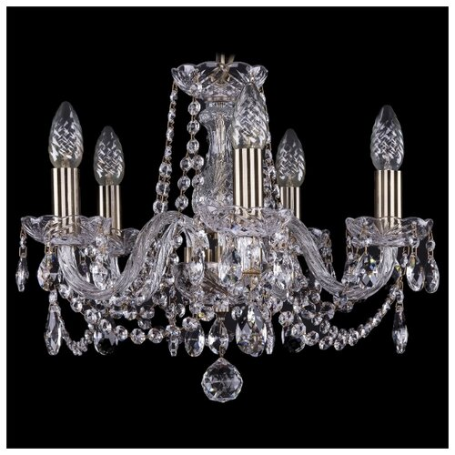 Люстра Bohemia Ivele Crystal 1402/5/141/Pa, E14, 200 Вт люстра bohemia ivele crystal 1402 1402 3 141 pa