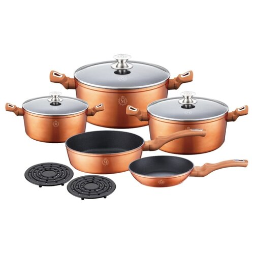 Набор посуды Meisterklasse MK-1014 10 пр. медный