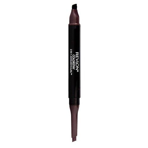 Revlon Карандаш для глаз ColorStay 2 in 1 Angled Kajal, оттенок 102 shik карандаш для глаз kajal liner оттенок 06 seaside