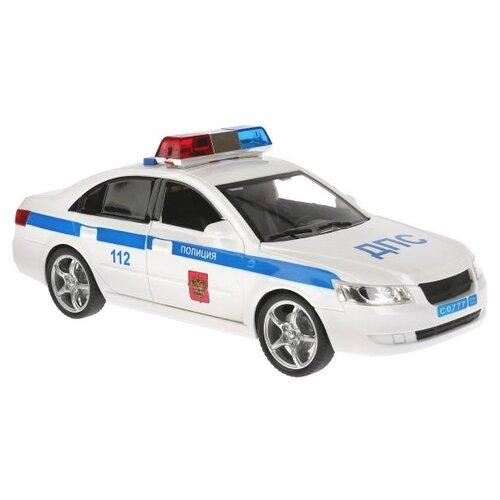 Купить Легковой автомобиль ТЕХНОПАРК Седан ДПС (WY560A) 23 см белый, Машинки и техника