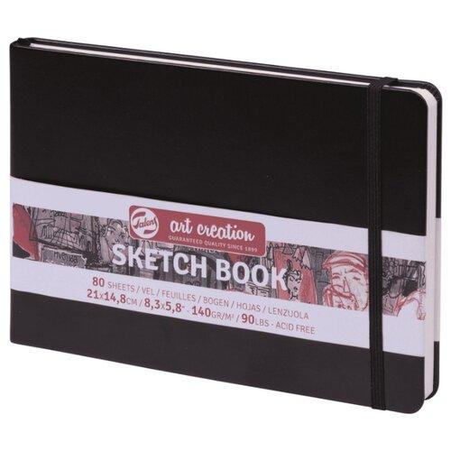 Купить Скетчбук для зарисовок Royal Talens Art Creation пейзаж 21 х 14.8 см, 140 г/м², 80 л. черный, Альбомы для рисования