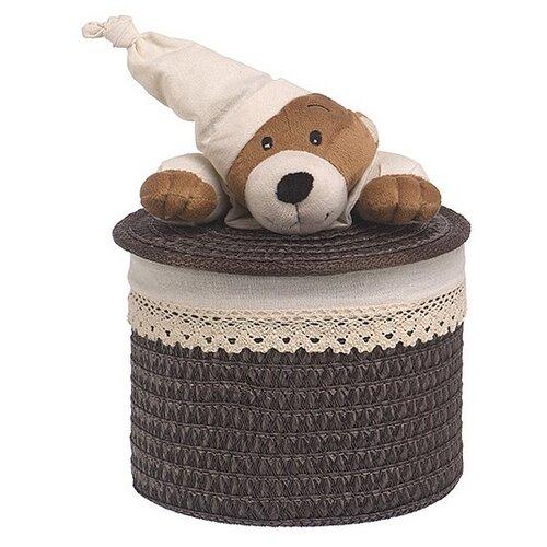 Handy Home Корзина для белья Медвежонок 20x20x16 см белый/коричневый корзина бельевая handy home решетка д410 ш290 в300 белый