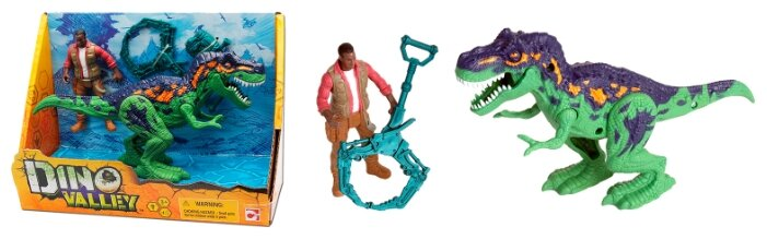Игровой набор Chap Mei Аллозавр и охотник со снаряжением 542015-1