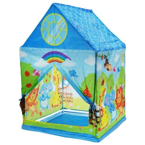 Палатка BONDIBON Веселые игры Зверята ВВ4482 синий трафарет луч веселые зверята