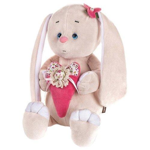 Купить Мягкая игрушка Maxitoys Романтичный зайчик с розовым сердечком 20 см, Мягкие игрушки