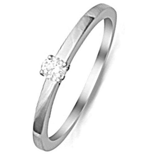 ЛУКАС Кольцо с 1 бриллиантом из красного золота R01-D-IGR-26824, размер 17 кольцо из золота r01 d 68997r001 r