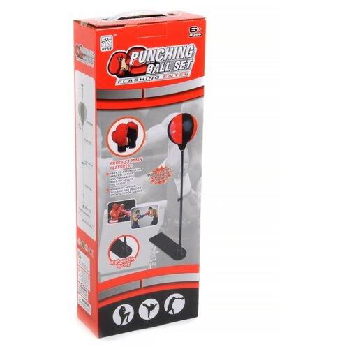 Набор для бокса Игротрейд Набор для бокса Спорт с подставкой IT104403 красный/черный набор для бокса sport elite tx43201 красный черный