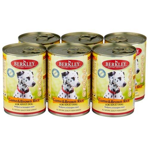Фото - Влажный корм для собак Berkley (0.4 кг) 6 шт. Паштет для собак. Оленина с коричневым рисом 6шт. х 400г влажный корм для собак berkley 0 4 кг 6 шт паштет для собак оленина с коричневым рисом 6шт х 400г