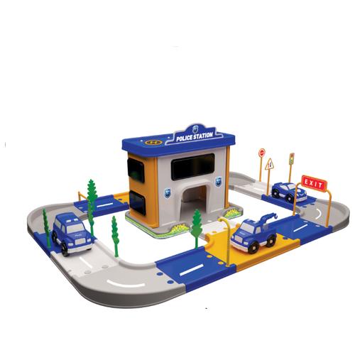 Купить Terides Полиция Т4-068 голубой/белый/желтый/серый, Детские парковки и гаражи