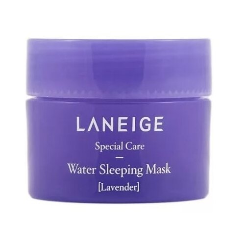 Laneige Water Sleeping Mask Lavender Ночная увлажняющая маска с ароматом лаванды, 25 мл laneige mini pore маска глиняная увлажняющая для сужения пор mini pore маска глиняная увлажняющая для сужения пор