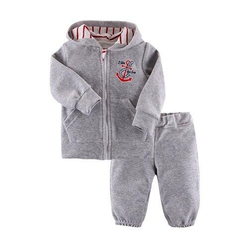 Комплект одежды Наша мама размер 74, серый, Комплекты  - купить со скидкой