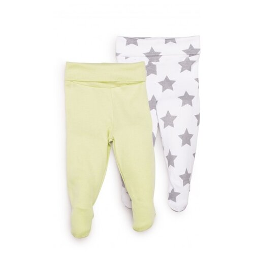 Ползунки Happy Baby размер 56, белый/зеленый брюки happy baby baby crawlers set 90034 размер 56 зеленый белый