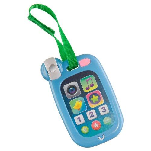 Интерактивная развивающая игрушка Happy Baby HappyPhone 330640 синий happy baby развивающая игрушка iq caterpillar happy baby