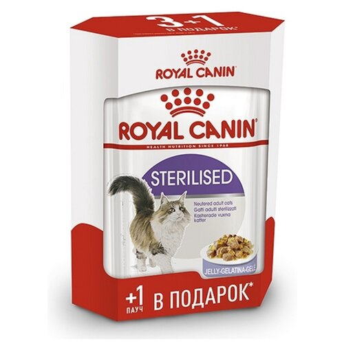 Корм для стерилизованных кошек Royal Canin для профилактики МКБ 4шт. х 85 г (кусочки в желе)