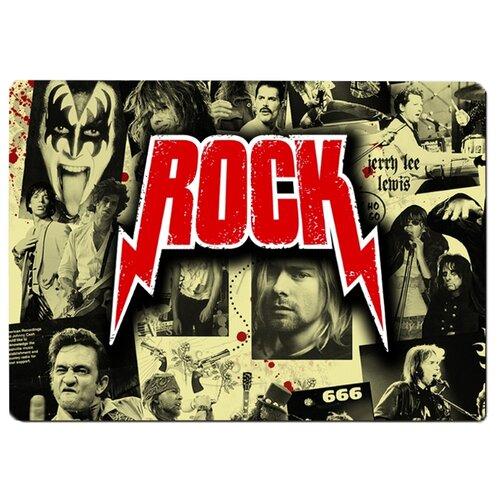 Коврик для мыши Rock и известные музыканты рокеры. Рок музыка