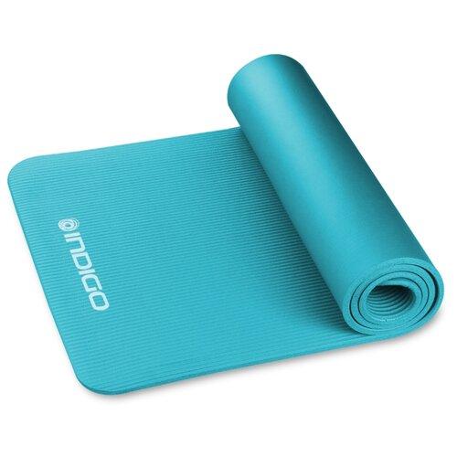 Коврик для йоги и фитнеса INDIGO NBR IN229 Бирюзовый 173*61*1,2 см коврик для йоги и фитнеса indigo nbr in104 173 61 1 см сиреневый