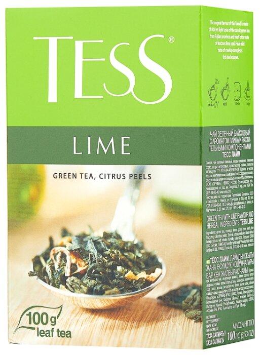 Зеленый листовой чай Tess Lime 100г