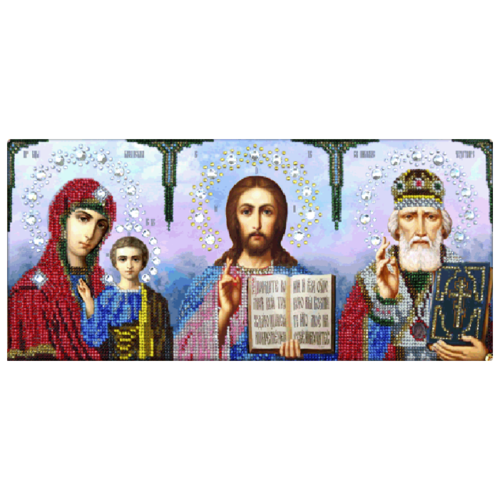 Купить Вышиваем бисером Набор подарочный для вышивания бисером Иконостас 16 x 37 см (S-2), Наборы для вышивания