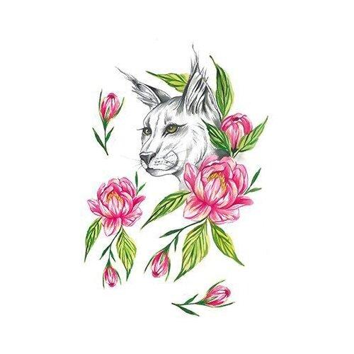 Polysfera Tattoo Авторская татуировка Tattoo PS&KG 008 зеленый/розовый/черный