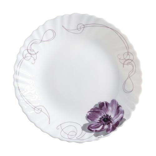 Доляна Тарелка десертная Сиреневое блаженство 17,5 см белый/сиреневый