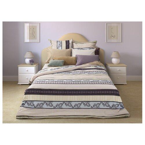 Постельное белье 1.5-спальное Sova & Javoronok Спокойный сон 70х70 см, сатин бежевый/розовый