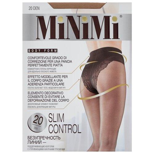 Колготки MiNiMi Slim Control 20 den, размер 4-L, caramello (бежевый) колготки minimi slim control 20 den размер 3 m caramello бежевый