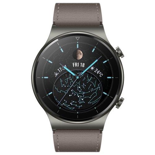 Умные часы HUAWEI WATCH GT 2 Pro (Кожа), туманно-серый умные часы huawei watch gt active dark green
